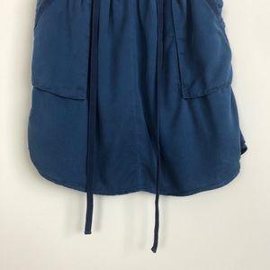 Anthropologie Skirts - Anthropologie | maeve blue short tie mini skirt